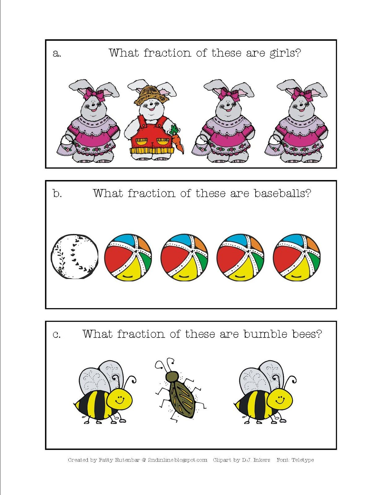 Here S A Set Of Cards For Working On Fractional Part Of A