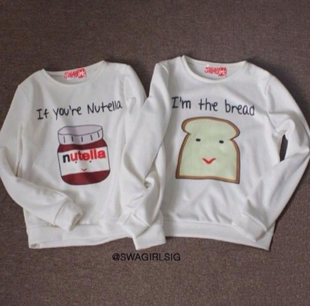 top couple soulmate nutella bread food fashion cute weheartit ...