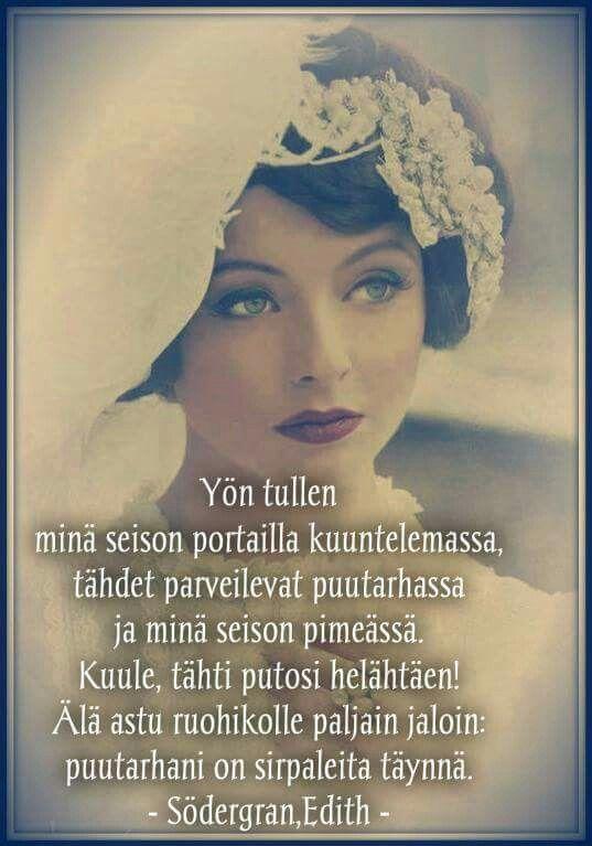 Edith Södergran Poems Finnish Words Art Quotes
