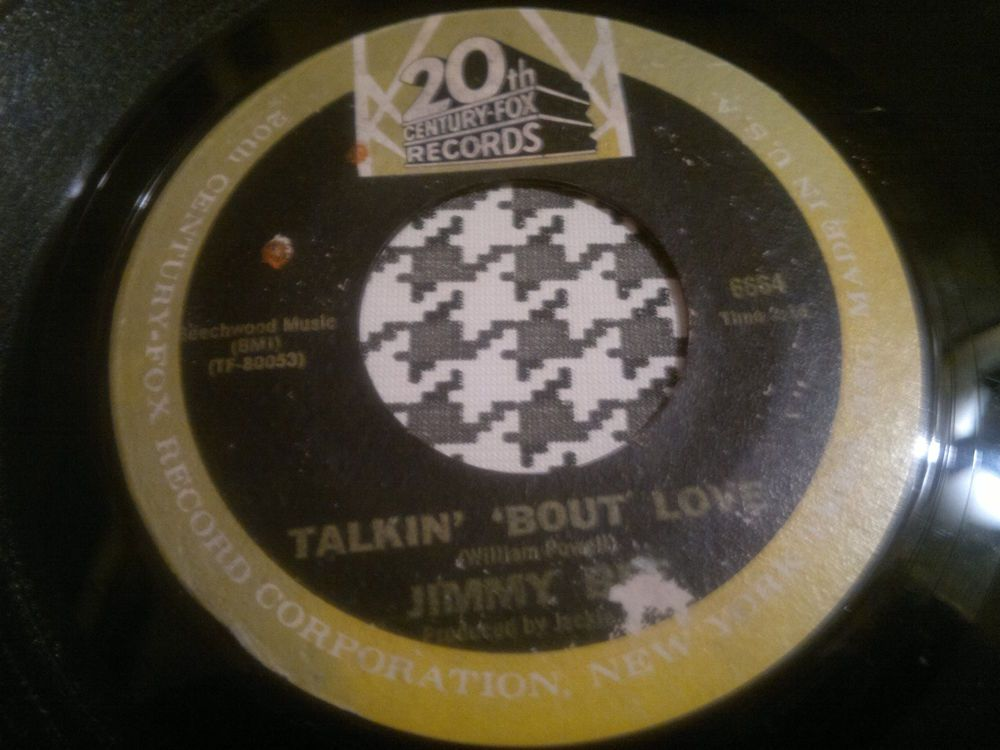 Northern Soul 45   Jimmy Bee - Talkin   About Love  -  CENTURY-FOX Records