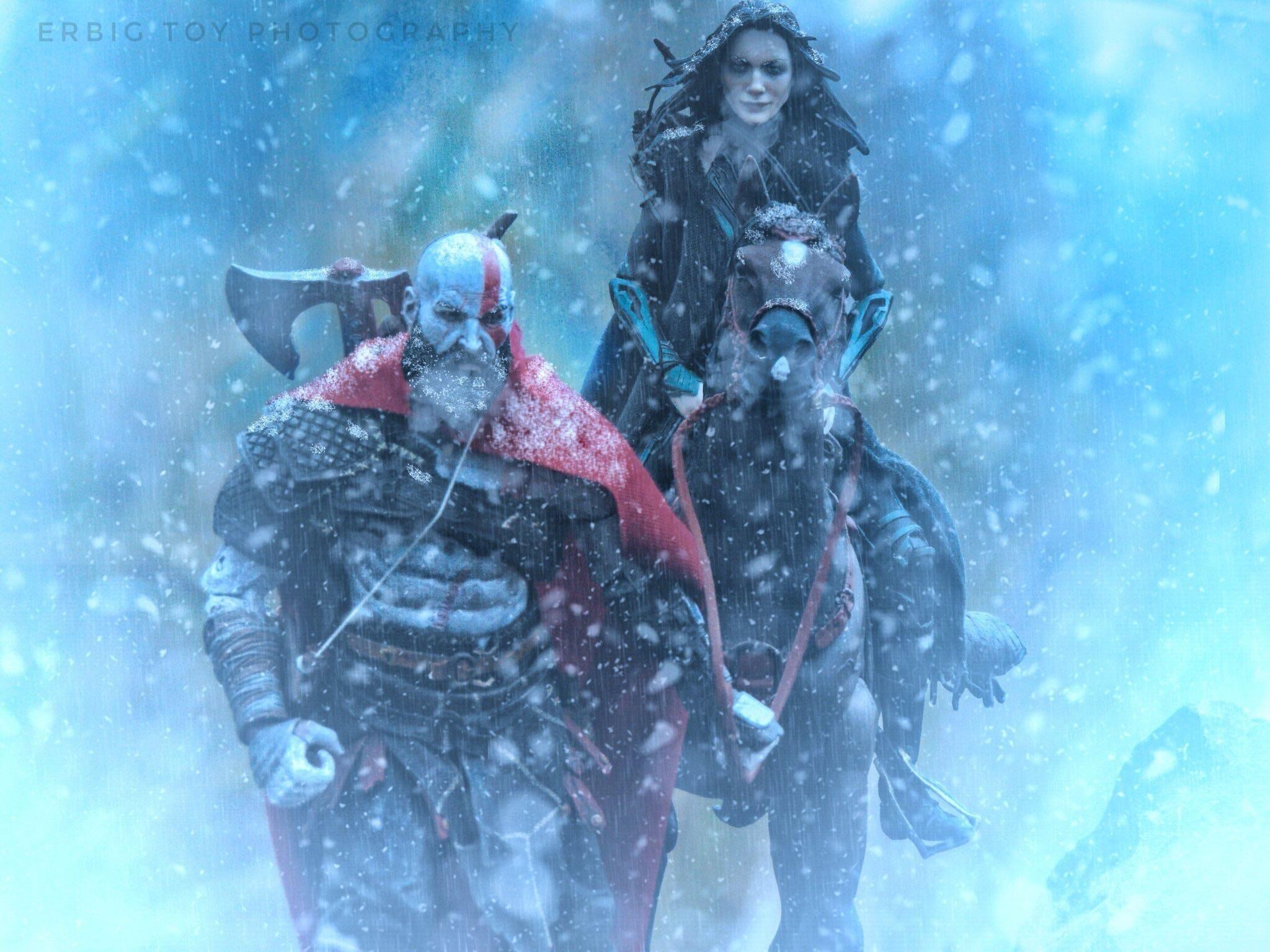 God Of Wars Kratos With Mcu Hela God Of War Kratos God Of