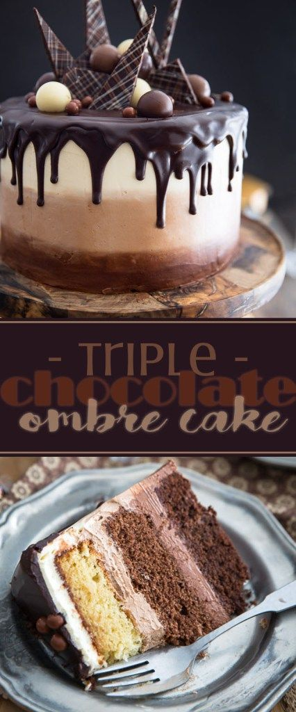 As Spectacular Looking It Is Delicious Tasting This Triple Chocolate Ombre Cake Sure To Make A Winning And Long Lasting Impression