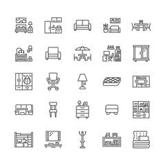 Furniture Icons Stock Photos Royalty Free Images Vectors Video Kitchen Corner Bench Living Room Tv Stand Living Room Tv