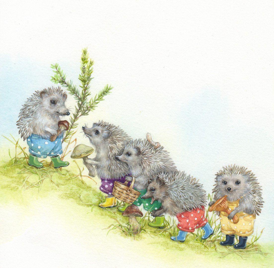Декупаж в Кургане VK Illustration tiere, Hedgehog art