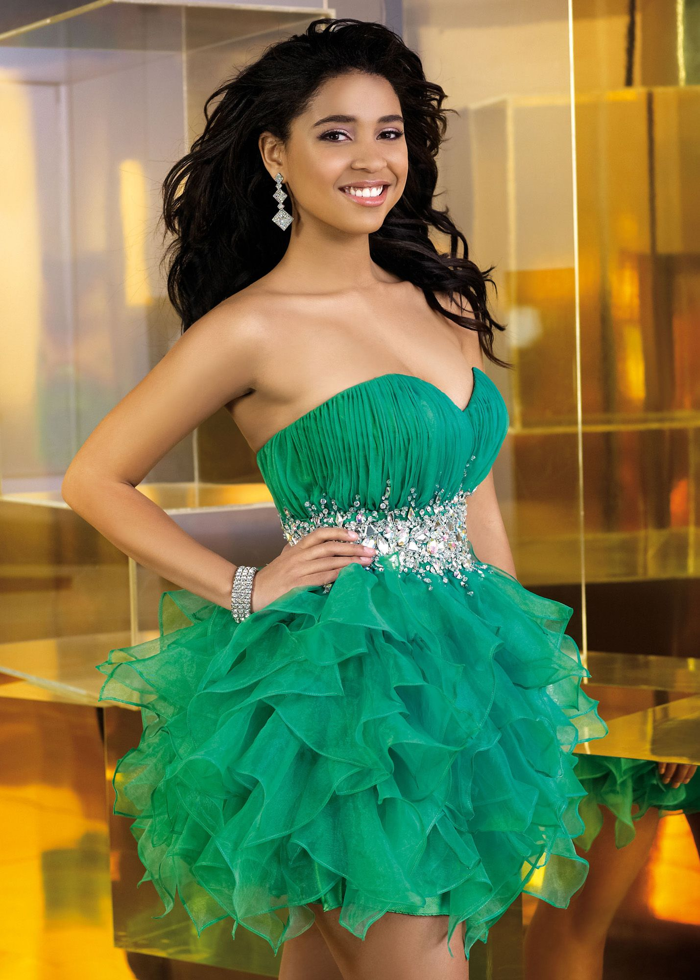 Alyce 3574 Emerald Green Homecoming Dress   Homecoming Dresses ...