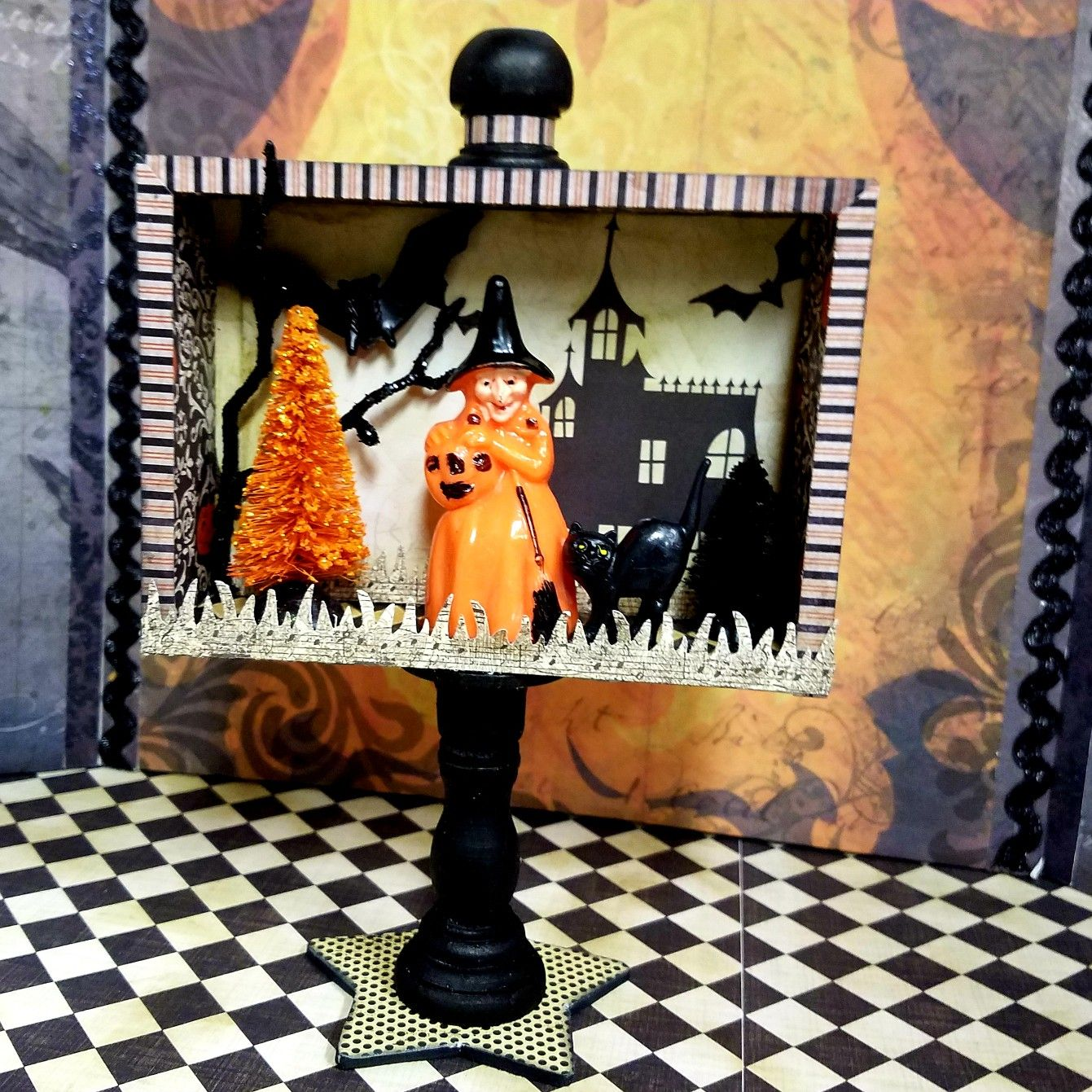 Witchy shadow box. Zetta's Aprons Fall crafts, Shadow
