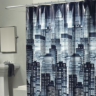 Skyline 70 Inch X 72 Inch Shower Curtain Bedbathandbeyond Com Curtains Superhero Bathroom White Shower
