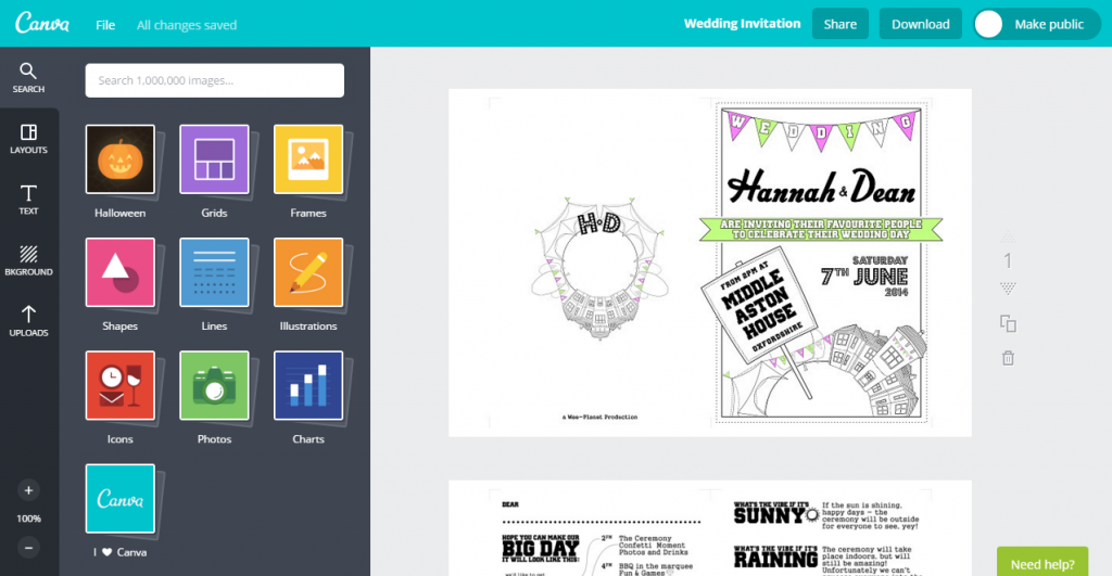Canva Is A FREE Easy To Use Tool For Creating Your Wedding Stationery Tips On Making Own Invitations See Our Post At Ownyourwedding