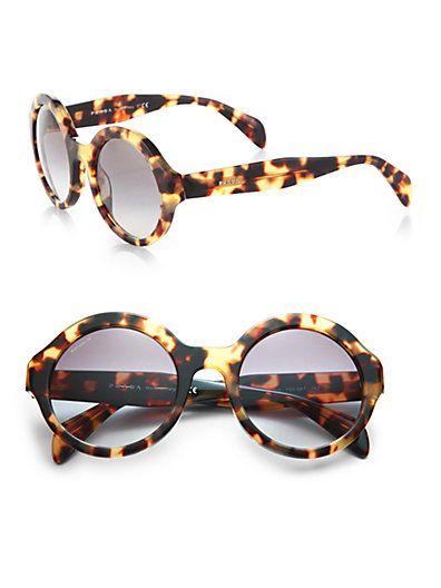 Prada - Plastic Round Sunglasses