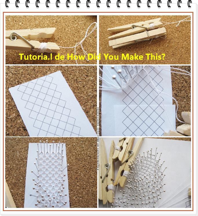 Como hacer encaje de bolillos recto paso a paso bobbin - Como empezar a hacer punto paso a paso ...