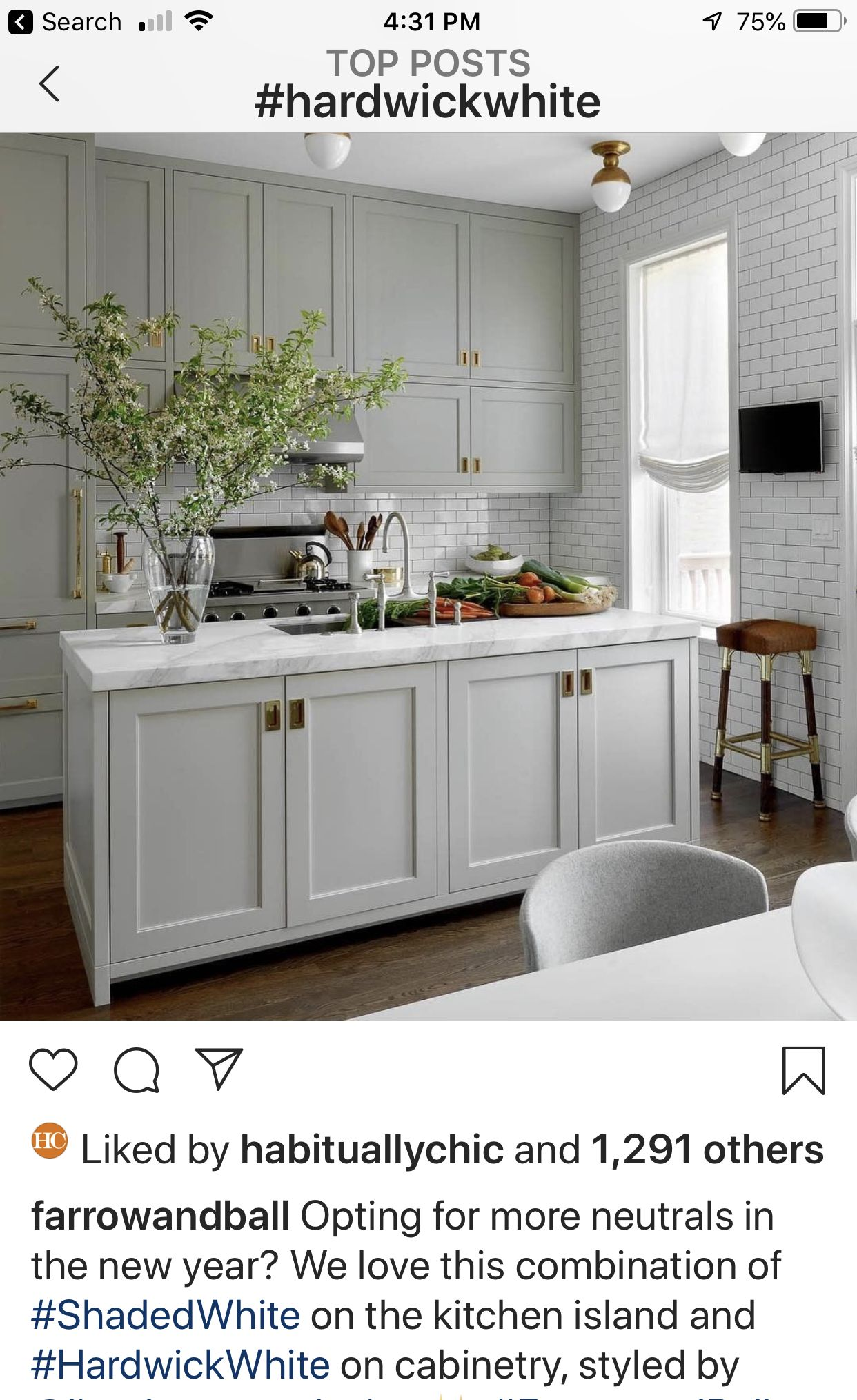 Best Hardwick White Paint Farrow And Ball Kitchen Cabinet 400 x 300