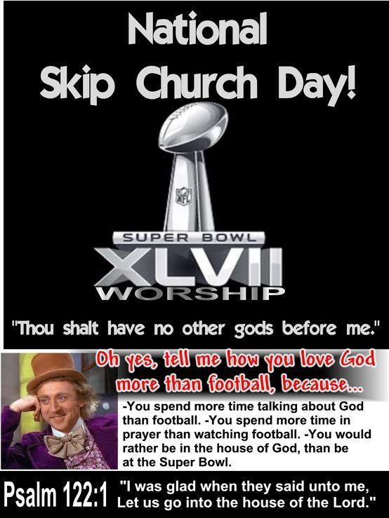 Ps. 122:1 KJV or National Skip Church Day