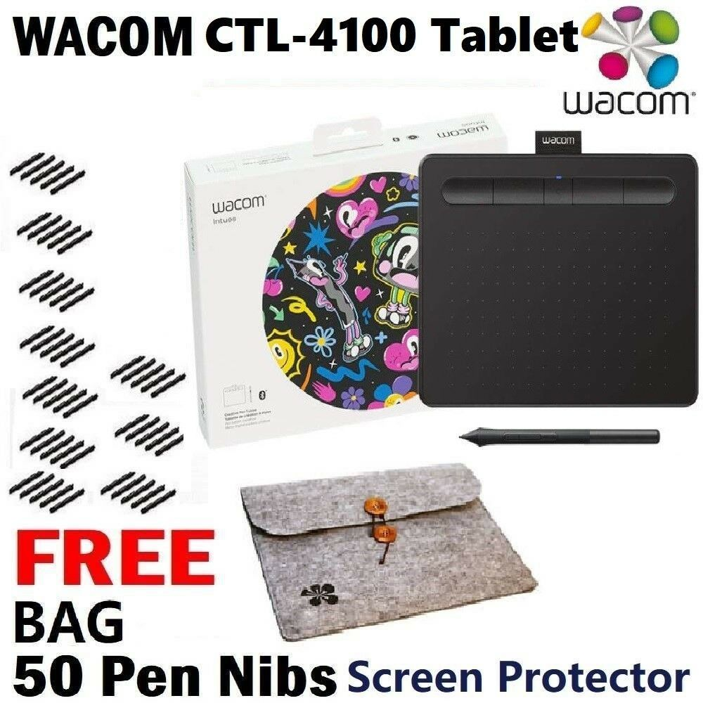 Wacom Intuos Small Basic CTL-4100 / K0 Black 2019 Model Pen