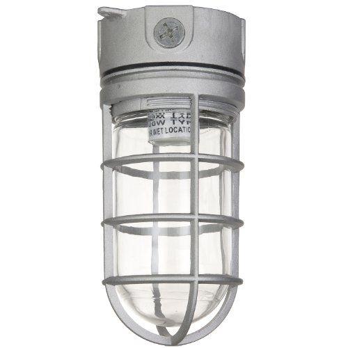 Sunlite Vt100 5 5 Inch 100 Watt Vapor Proof Vandal Proof Outdoor Fixture Metall Flush Mount Ceiling Light Fixtures Clear Glass Jars Flush Mount Ceiling Lights