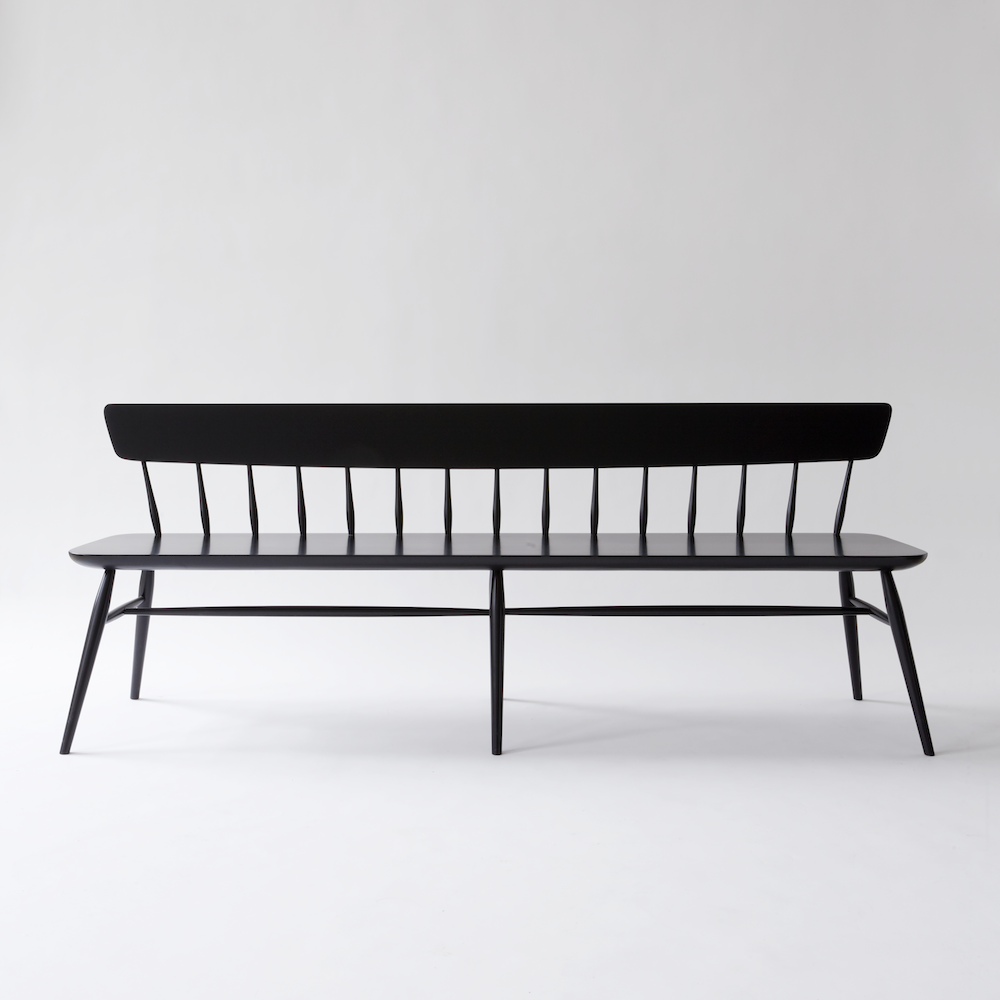 Miraculous Moving Mountains Windsor Bench Large Black Lacquer Seating Creativecarmelina Interior Chair Design Creativecarmelinacom