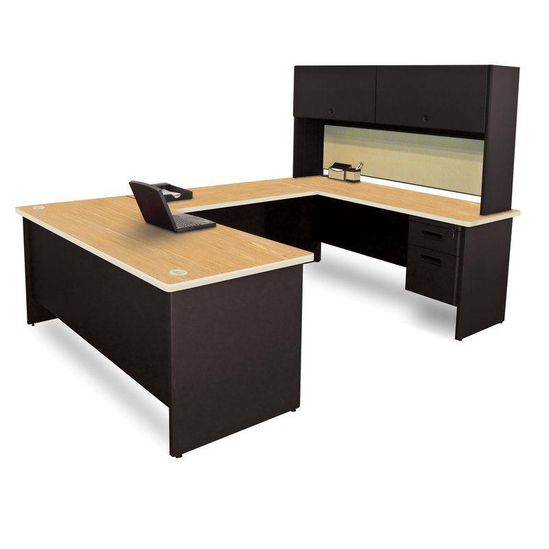 Pronto Flipper Door Unit U Shape Executive Desk With Hutch