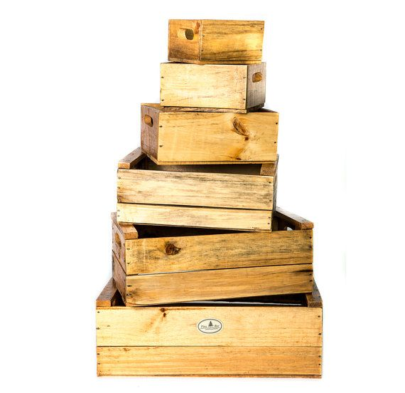 wedding crates  set of 6