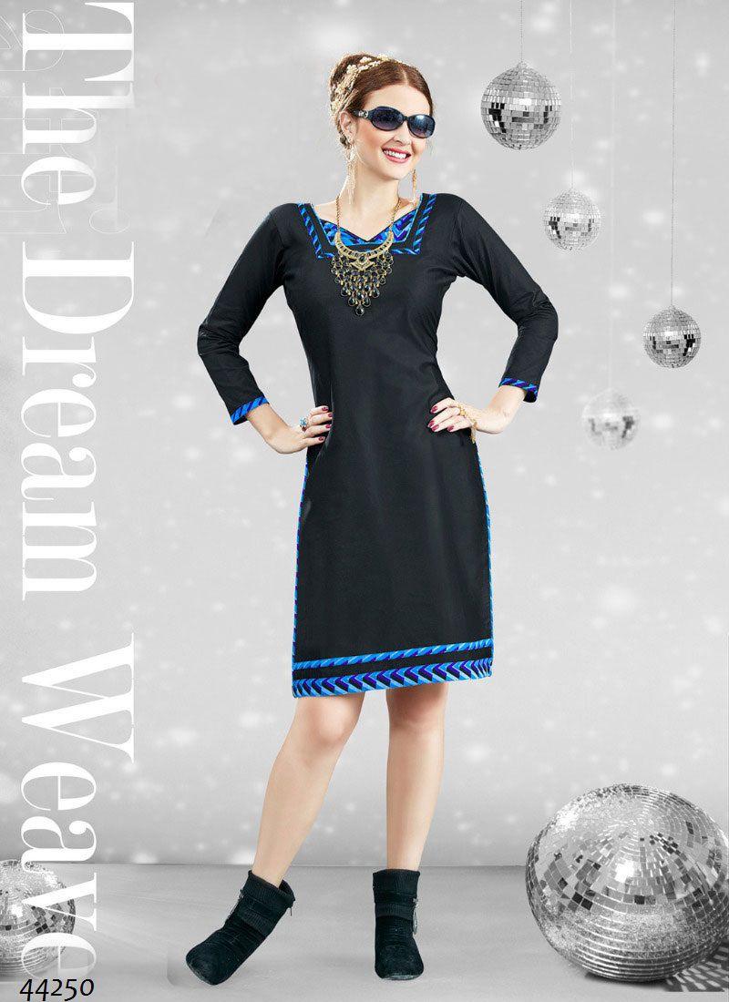 Readymade Black #Cotton #Printed #Kurti #nikvik  #usa #designer #australia #canada #freeshipping #dress #tunic