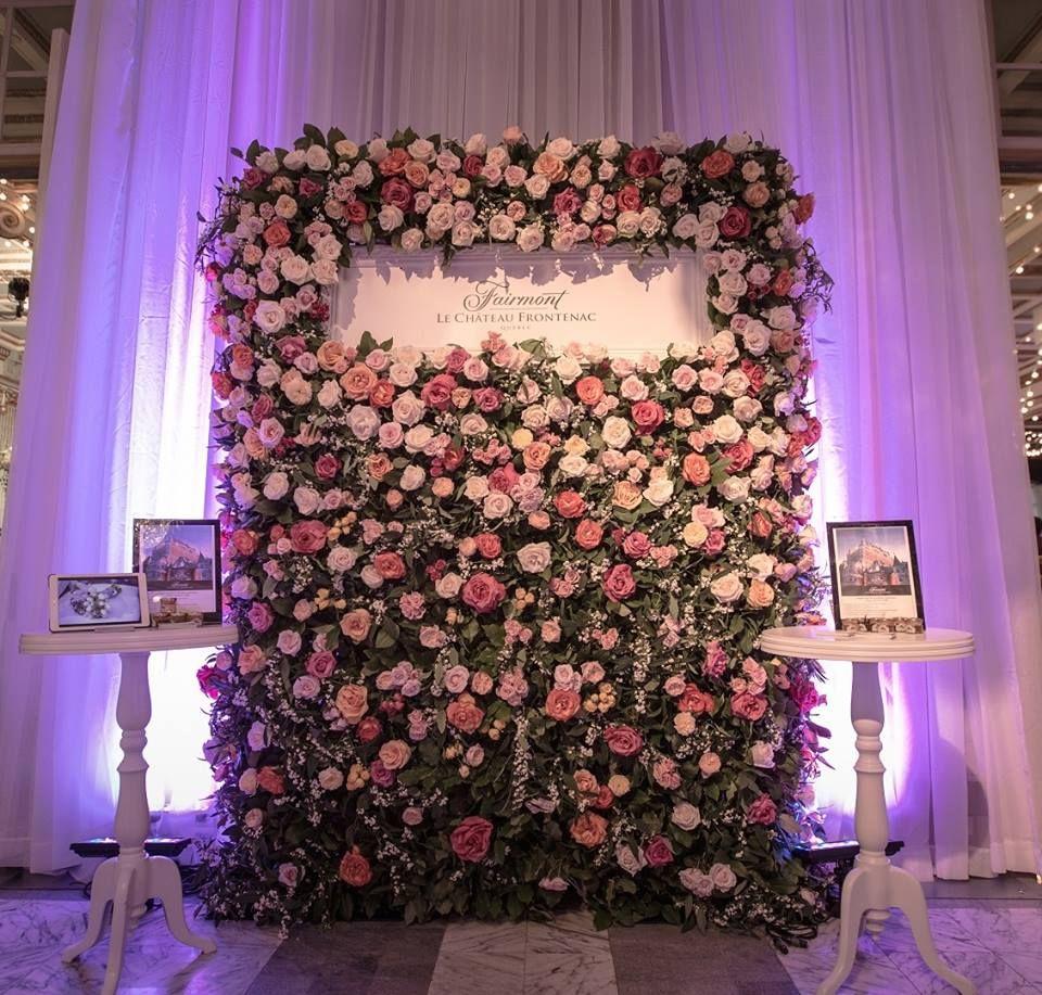 mur de fleur mariage