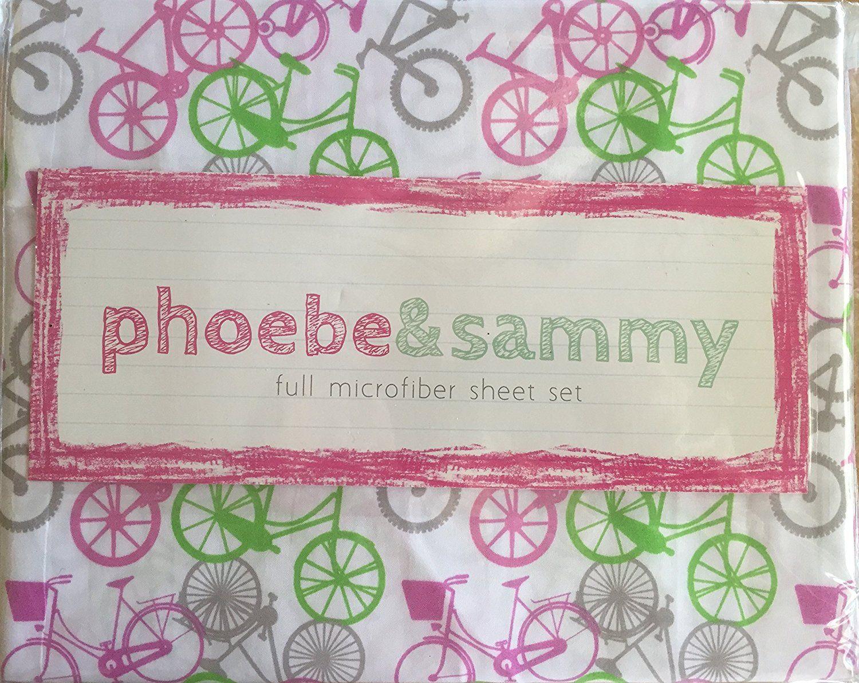 Amazon.com: Phoebe & Sammy Kids Bicycle Microfiber Sheet Set (Full): Home & Kitchen