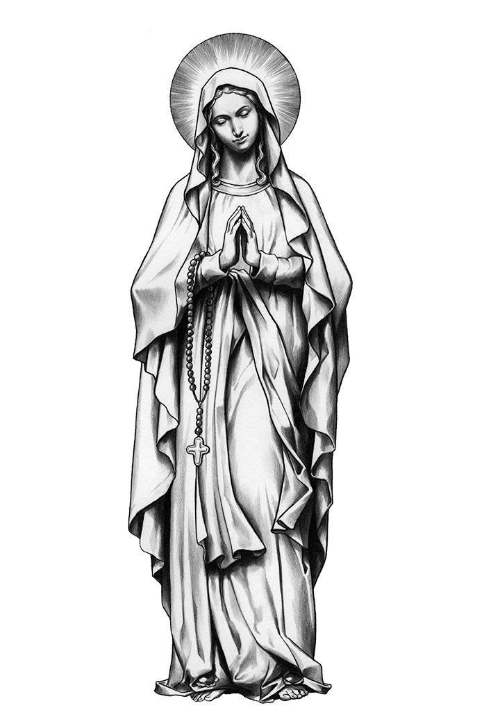 Mother Mary Tattoo Drawings : mother, tattoo, drawings, Mother, Mary,, Tatuagem, Santo,, Tatuagens, Virgem, Maria