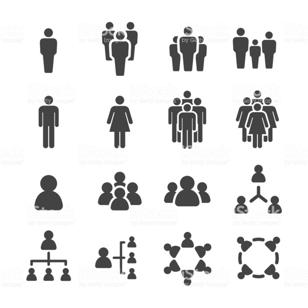 People Icon Set Vector Illustration People Icon Human Icon Icon Set Vector