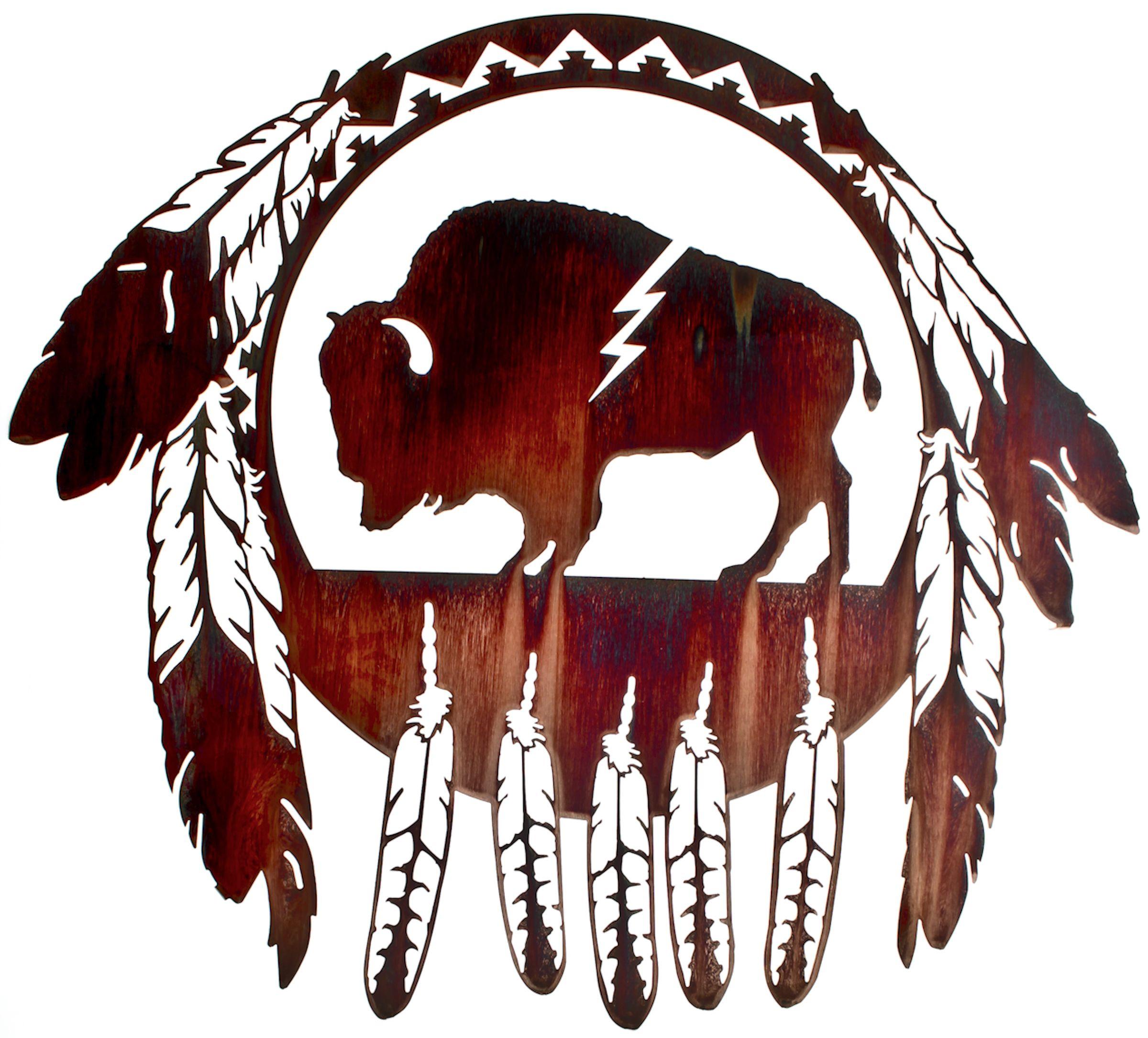 24 buffalo native american wall art for Native design