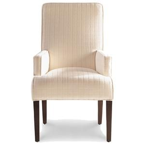upholstered dining room chairs with arms. Jessica Charles Fine Upholstered Accents Lahaye Exposed Wood Arm. Perfect Dining Chairs Room With Arms H