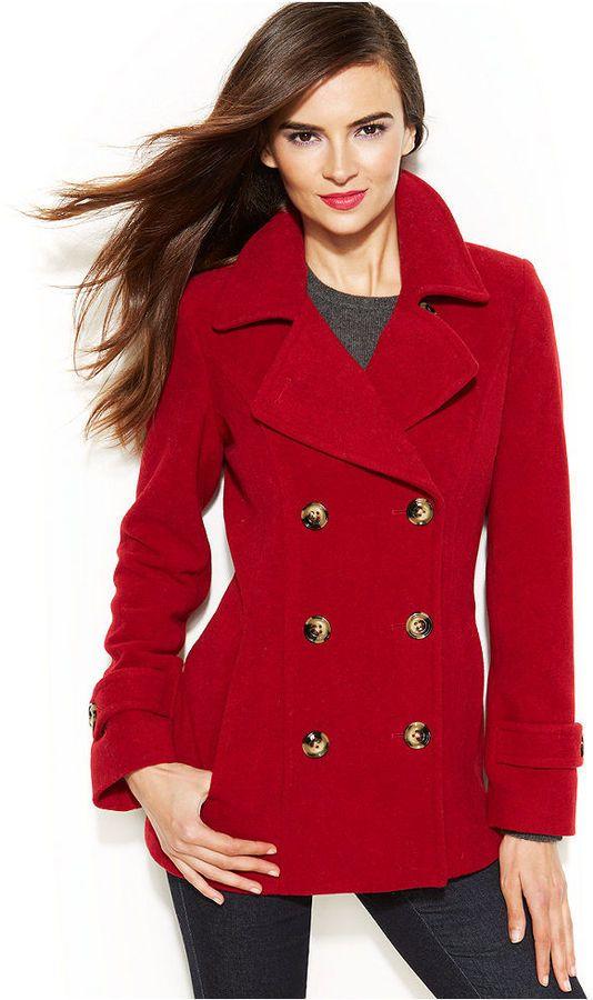 Jason Kole Double Breasted Pea Coat | Coats, Shops and Red pea coats