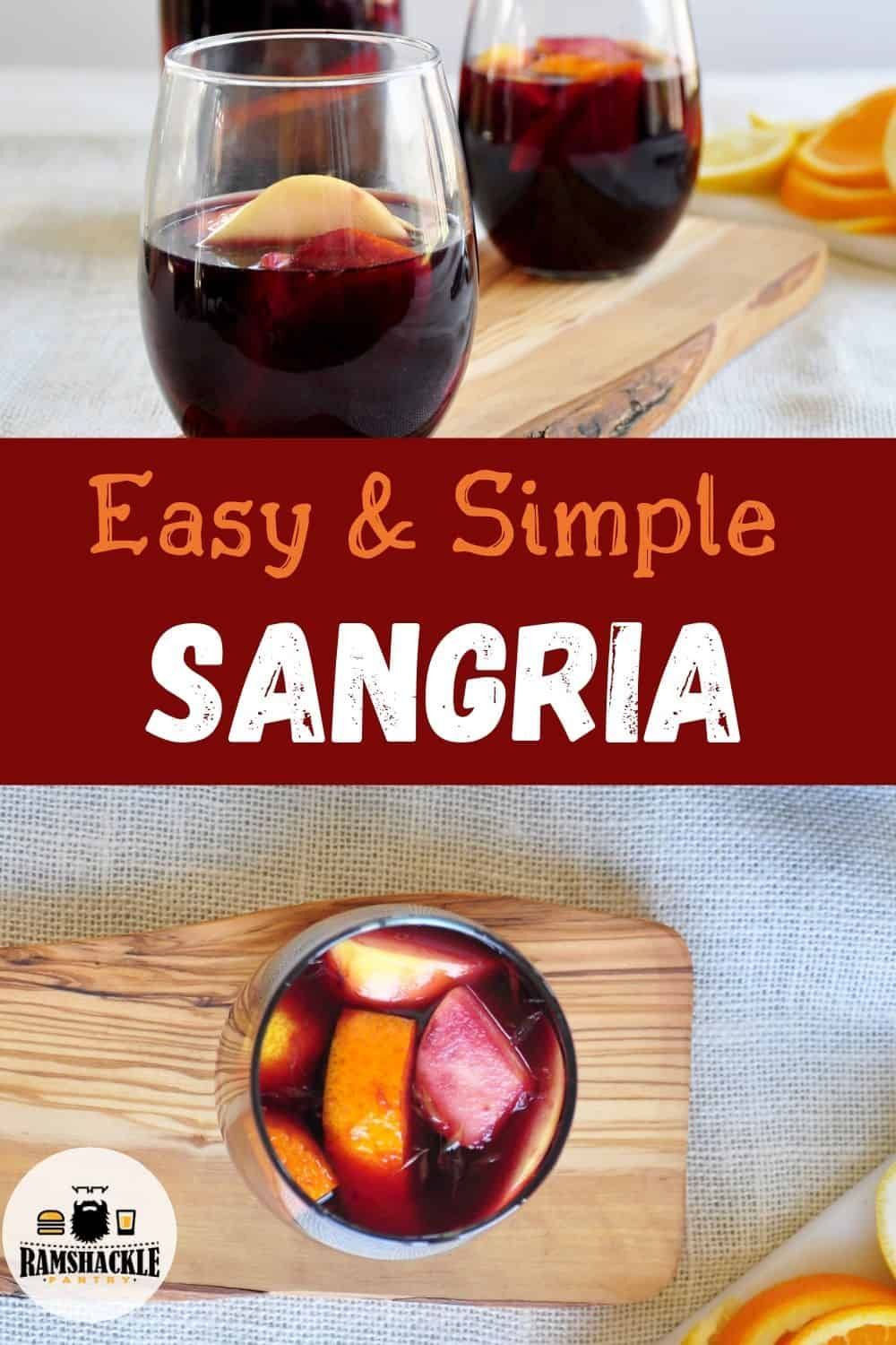 A Classic Red Sangria Recipe And It Will Be The Only One You Will Ever Need This Is Tasty Easy And Sangria Recipes Easy Sangria Recipes Red Sangria Recipes