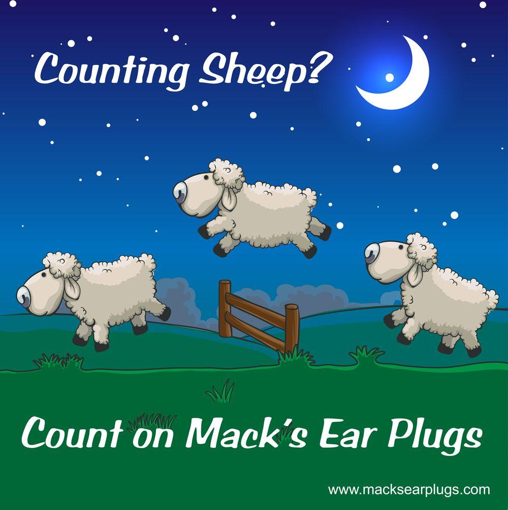 Counting Sheep? Count On Mack's Ear Plugs. Please visit: http://www.macksearplugs.com/category/sleeping-earplugs for more information. #CountingSheep #Earplugs