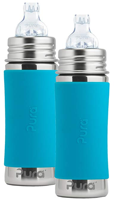 Pura Kiki Stainless Steel Toddler Sippy Bottle Bottle Baby Bottles Aqua