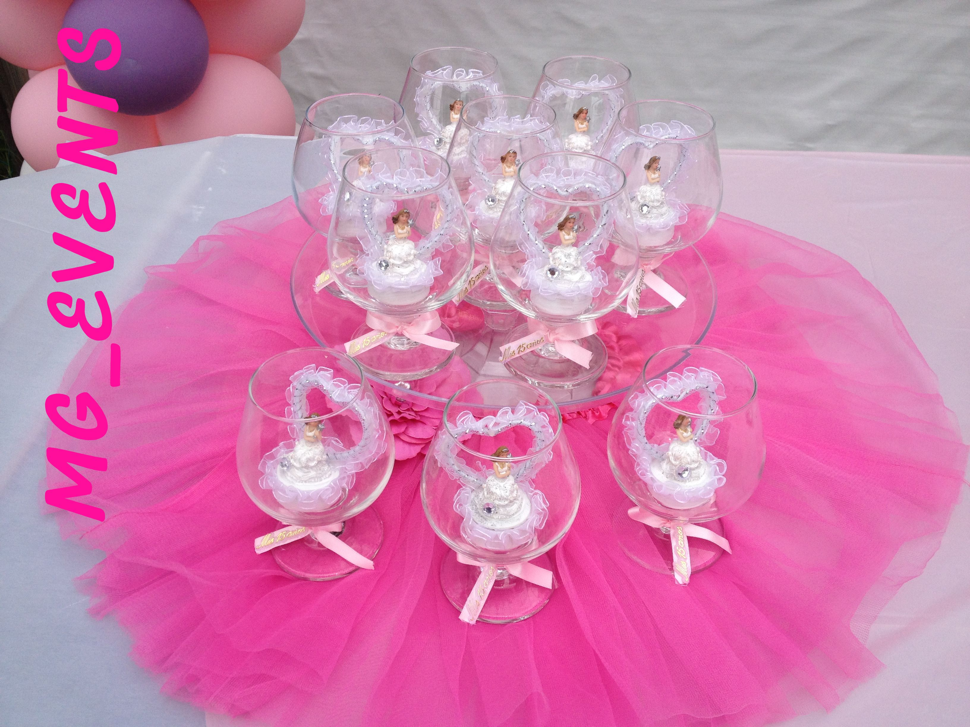 Quinceanera, Customized Star filled with candles, wine glass party ...