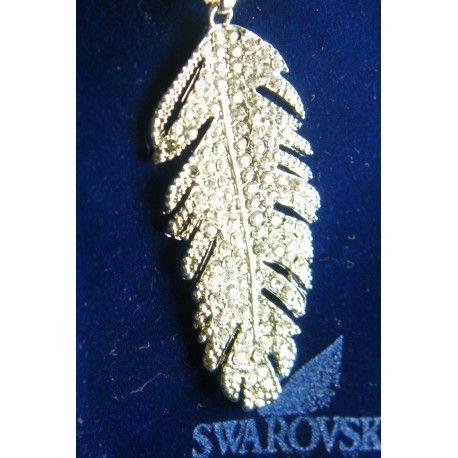 #swarovski #crystal #feather #pendant