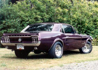 1967 Stang In Purple Ford Mustang Mustang Ford Mustang Coupe