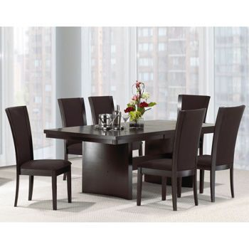 Costco Martina 7 Pc Dining Set With Dark Brown Chairs Dining Room Furniture Furniture Dining Room Inspiration
