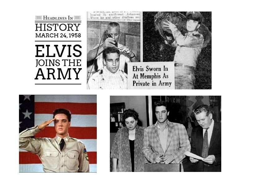 On March 24 1958 Elvis Presley Was Inducted Into The United States Army 23 Photographs In 2020 Elvis Elvis Presley Photos Elvis Presley