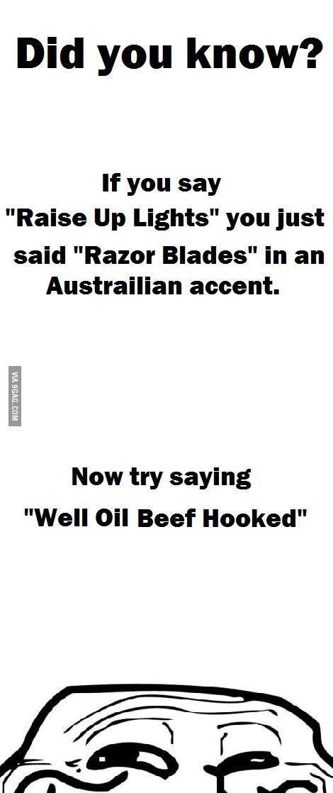 Australian Accent - Funny