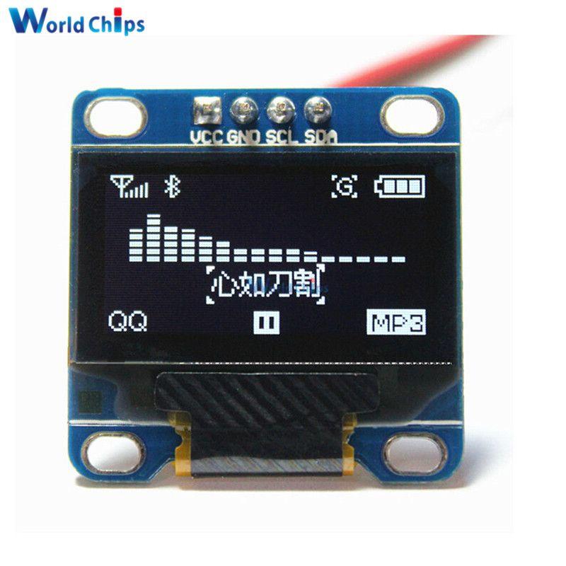 "White 0.96/"" SPI Serial 128X64 OLED LCD LED Display Module //Arduino"