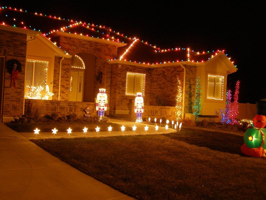 christmas home lighting. Christmas Lights On House Wallpaper Home Lighting L