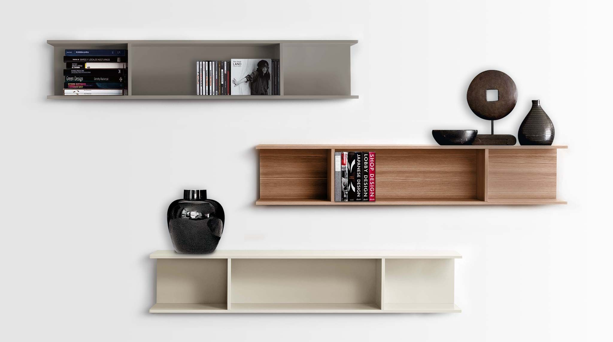 Libreria modulare pensile a muro Light - soloLibrerie   Vendita ...