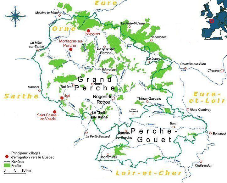 Carte Canada Region.Carte Du Perche Normandie Percheron Orne 61 Tourouvre Mortagne