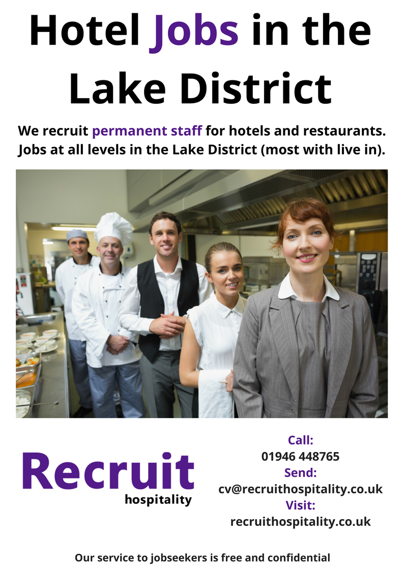 Hospitality Job Recruitment Hotel Jobs In The Lake District Cumbria We Re A Hotel