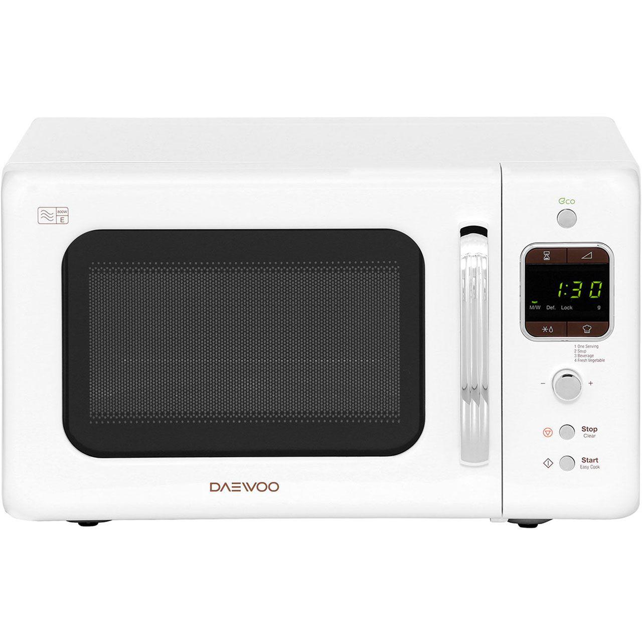 Daewoo Retro Style Kor7lbkw 20 Litre Microwave White Kitchen