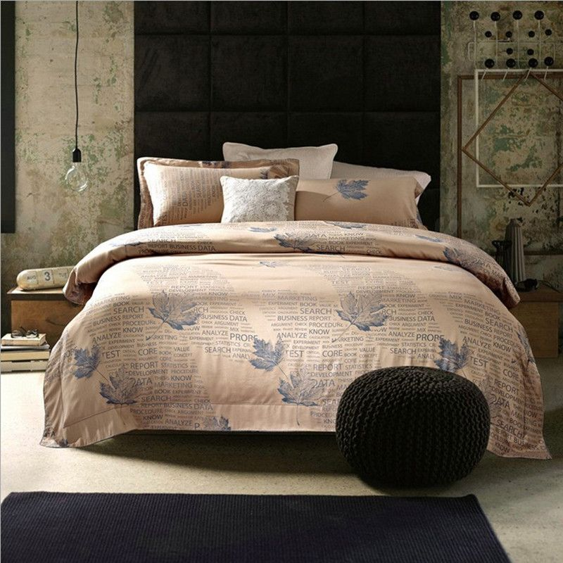 Luxury Euro Bedding Sets 4pcs Tribute Silk Satin Jacquard