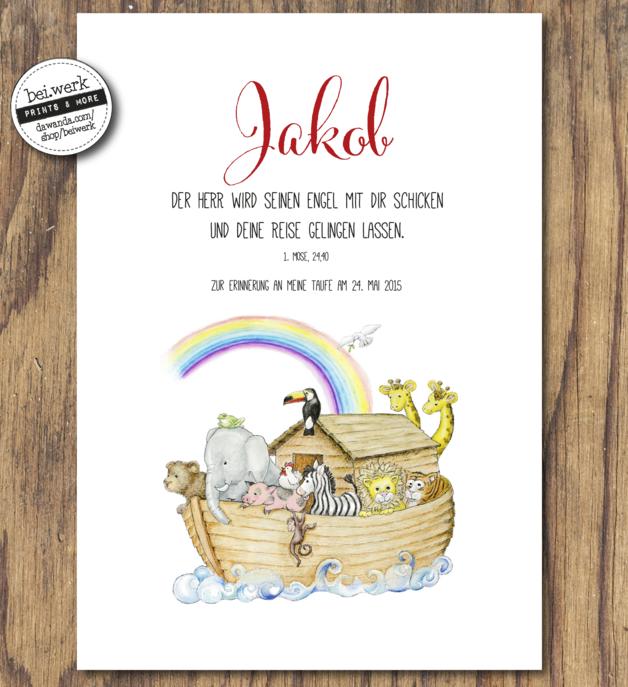Das Geschenk Zur Taufe Arche Noah Von Beiwerk Ein