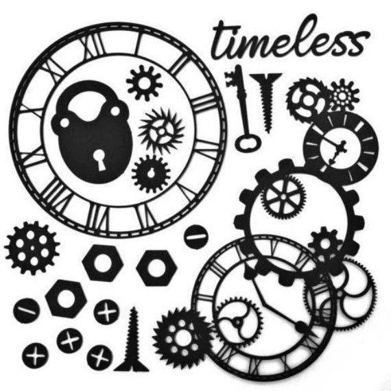 49 Market Timeless Black Archival Board Sentiment Chipboard