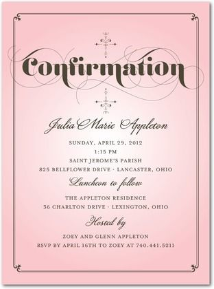 Confirmation Invitation Or Announcment Boy Navy And Charcoal Made