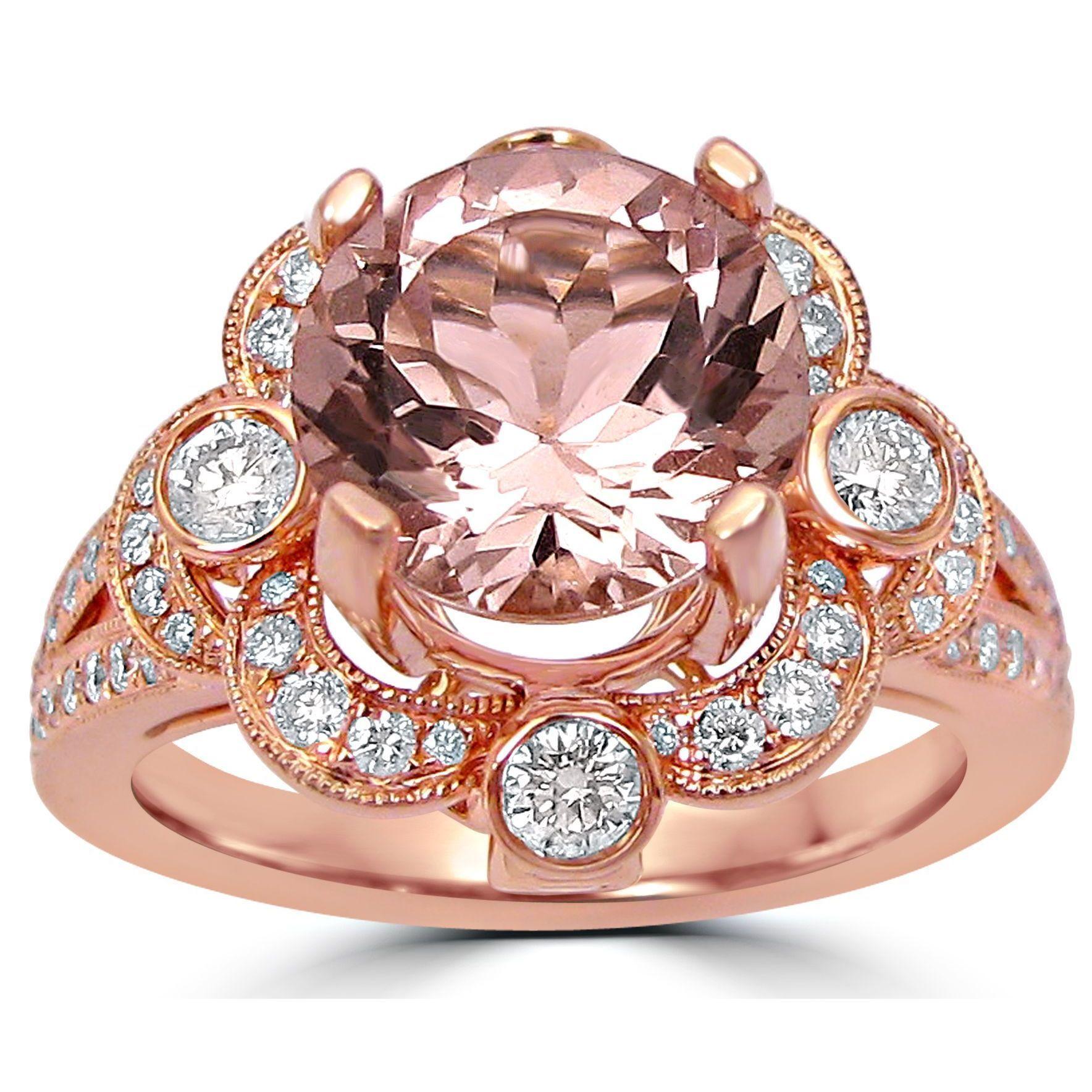2 4/5 ct TGW Round Diamond Engagement Ring