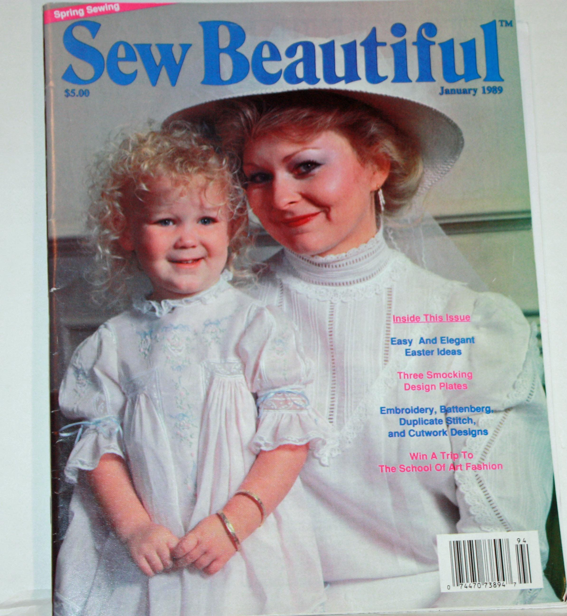 Vintage 1980s Sew Beautiful Magaine January 1989 Winter Issue 1989 Heirloom Sewing Martha Pullen Sewing Patterns Girls Spring Sewing Heirloom Sewing